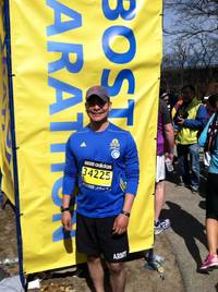 Oscar Camargo 2014 Boston Marathon Run