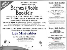 Northport Community Theater BOOKFAIR at Barnes & Noble!