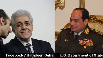 sisi, sabahi square off in egypt's presidential race