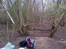 cops accuse children of anti-social behavior for building a fort in the woods